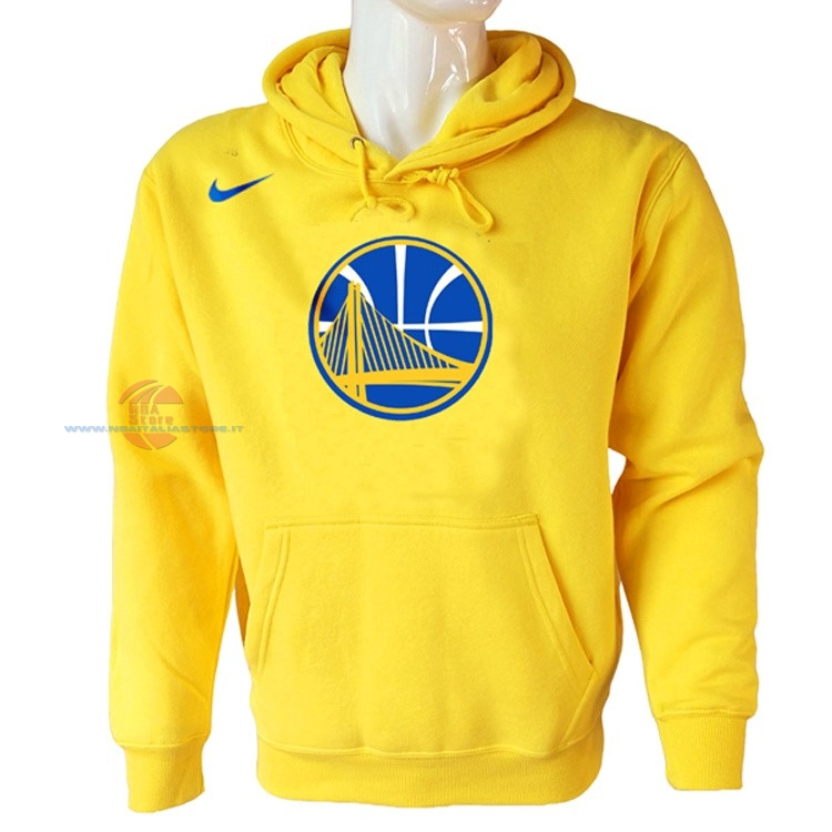 Acquista Felpe Con Cappuccio NBA Golden State Warriors Nike Giallo