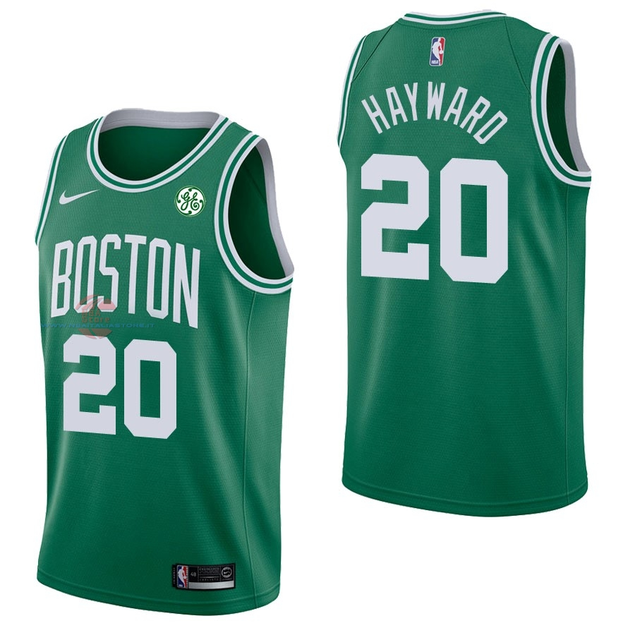 Acquista Maglia NBA Nike Boston Celtics NO.20 Gordon Hayward Verde