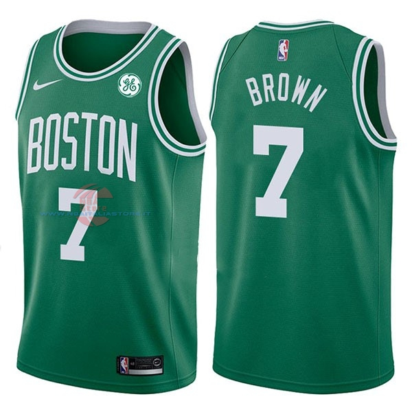 Acquista Maglia NBA Nike Boston Celtics NO.7 Jaylen Brown Verde