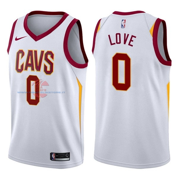Acquista Maglia NBA Nike Cleveland Cavaliers NO.0 Kevin Love Bianco Association