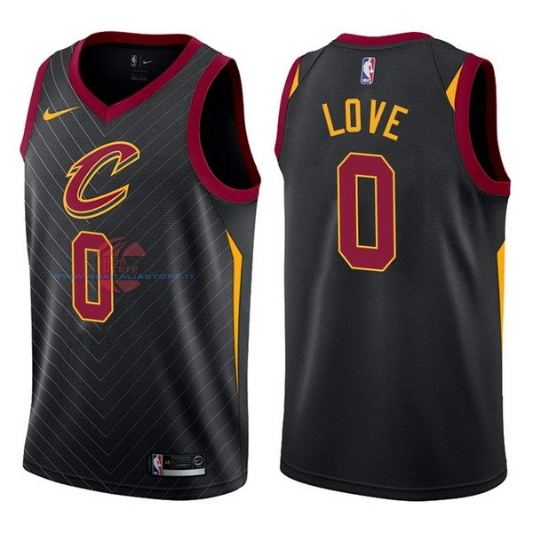 Acquista Maglia NBA Nike Cleveland Cavaliers NO.0 Kevin Love Nero Statement