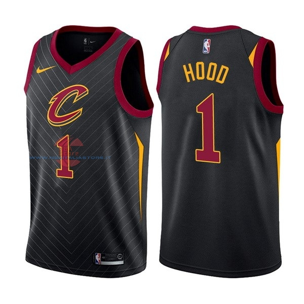Acquista Maglia NBA Nike Cleveland Cavaliers NO.1 Derrick Rose Nero Statement