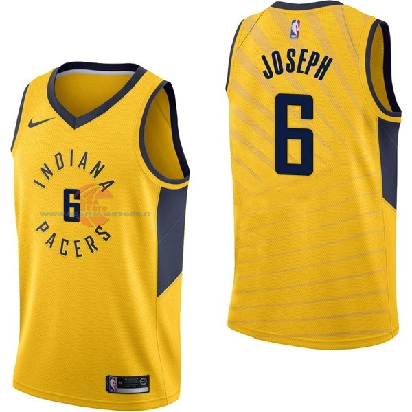 Acquista Maglia NBA Nike Indiana Pacers NO.6 Cory Joseph Giallo Statement