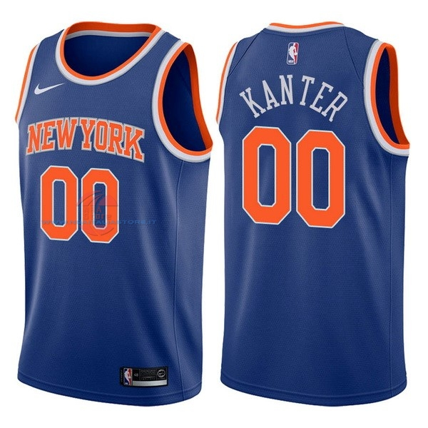 Acquista Maglia NBA Nike New York Knicks NO.0 Enes Kanter Blu Icon