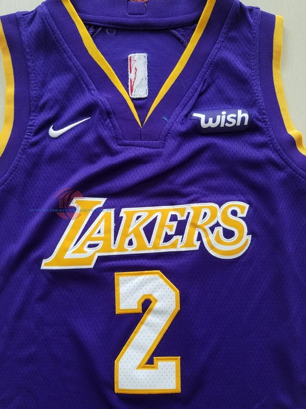 Acquista Maglia NBA Set Completo Bambino Los Angeles Lakers NO.2 Lonzo Ball Porpora 2017-18