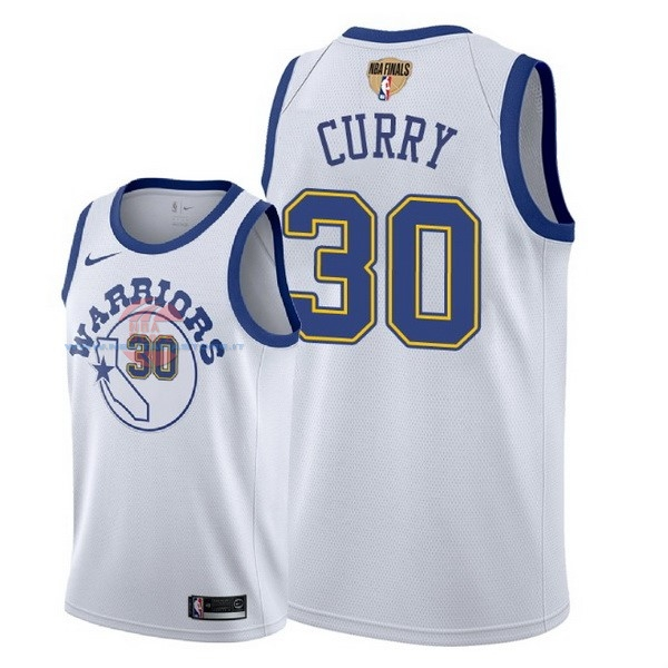 Acquista Maglia NBA Golden State Warriors 2018 Campionato Finali NO.30 Stephen Curry Retro Bianco