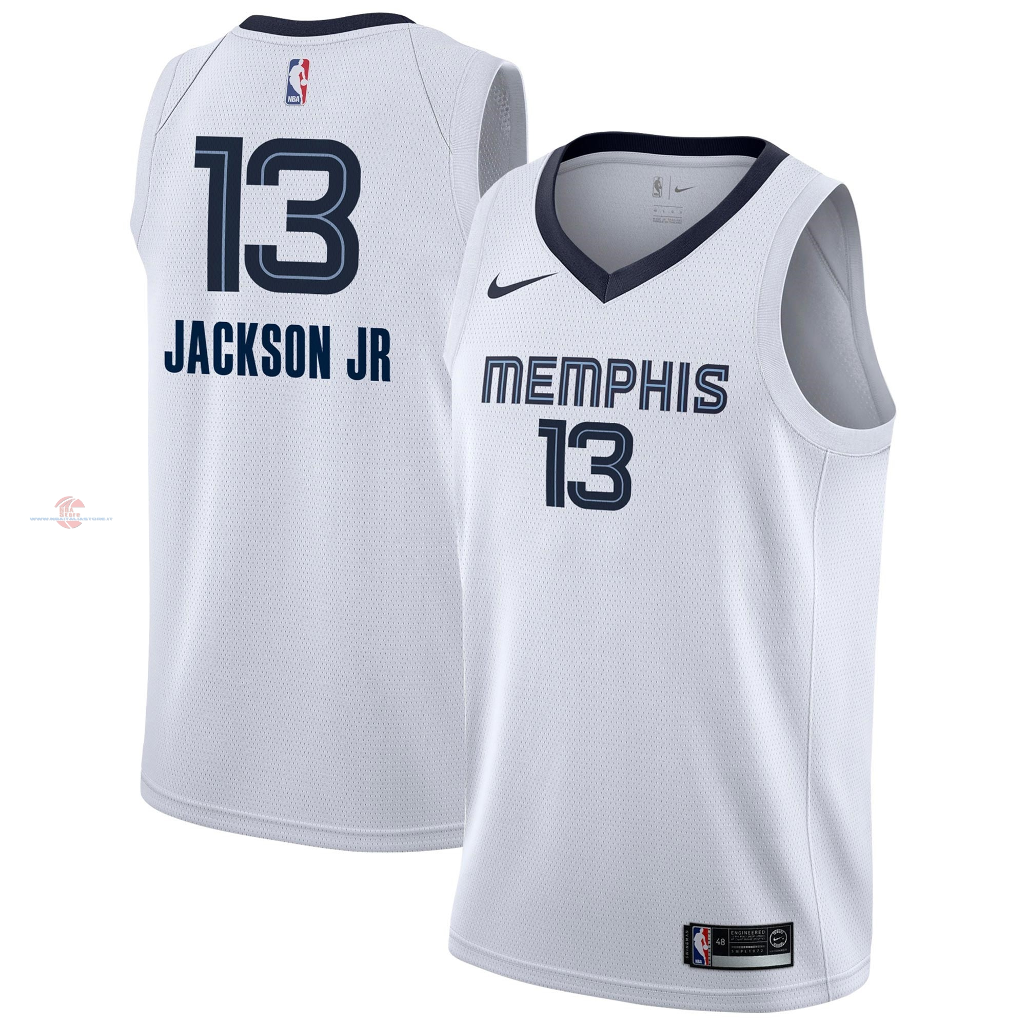 Acquista Maglia NBA Nike Memphis Grizzlies NO.13 Jaren Jackson Jr Bianco Association 2018-19
