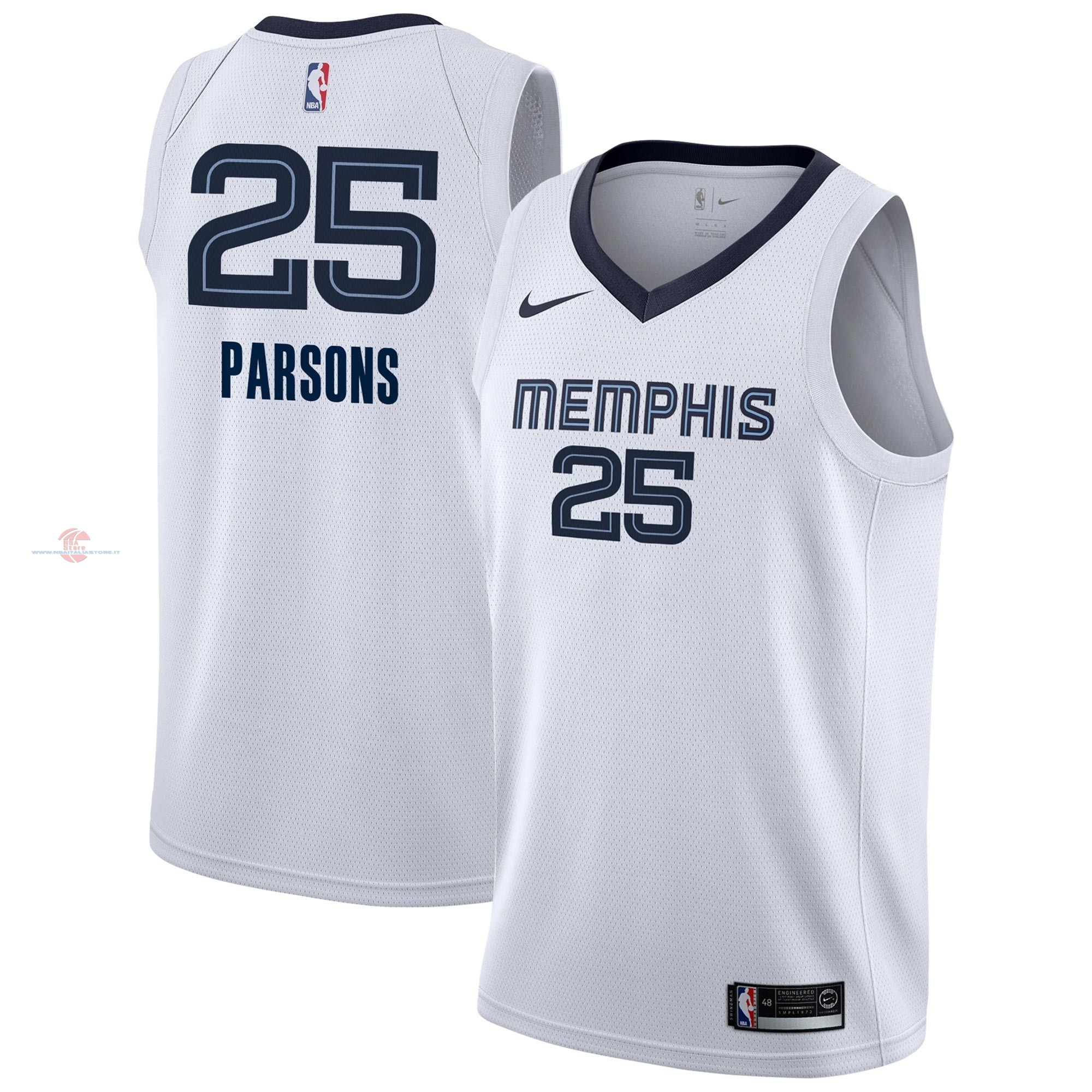 Acquista Maglia NBA Nike Memphis Grizzlies NO.25 Chandler Parsons Bianco Association 2018-19