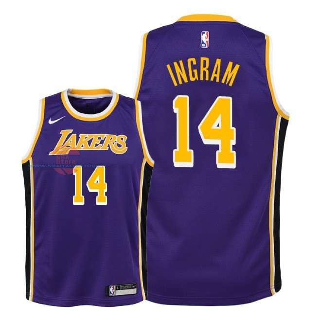 Acquista Maglia NBA Bambino L.A.Lakers NO.14 Brandon Ingram Porpora Statement 2018-19