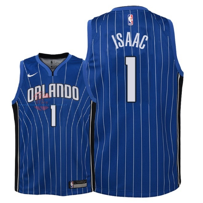 Acquista Maglia NBA Bambino Orlando Magic NO.1 Jonathan Isaac Blu Icon 2018