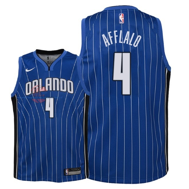 Acquista Maglia NBA Bambino Orlando Magic NO.4 Arron Afflalo Blu Icon 2018