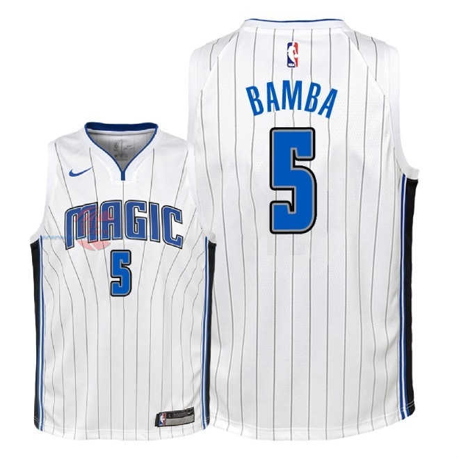 Acquista Maglia NBA Bambino Orlando Magic NO.5 Mohamed Bamba Bianco Association 2018