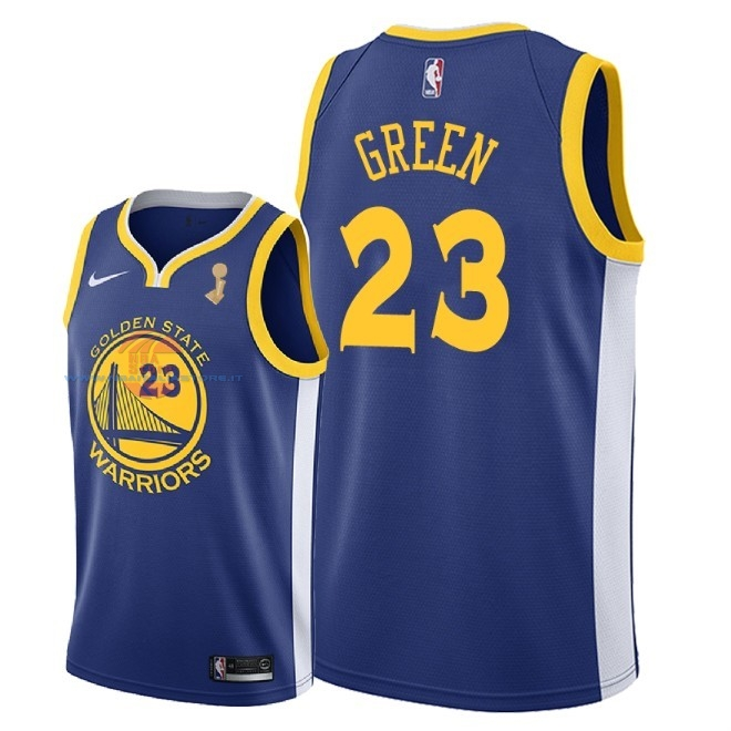 Acquista Maglia NBA Golden State Warriors 2018 Campionato Finali NO.23 Draymond Green Blu