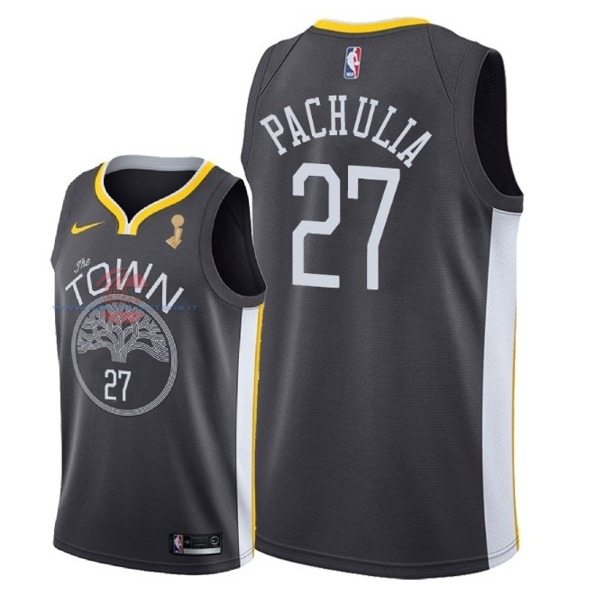 Acquista Maglia NBA Golden State Warriors 2018 Campionato Finali NO.27 Zaza Pachulia Nero