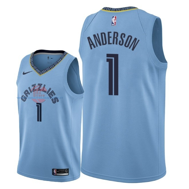 Acquista Maglia NBA Nike Memphis Grizzlies NO.1 Kyle Anderson Blu Statement 2018-19