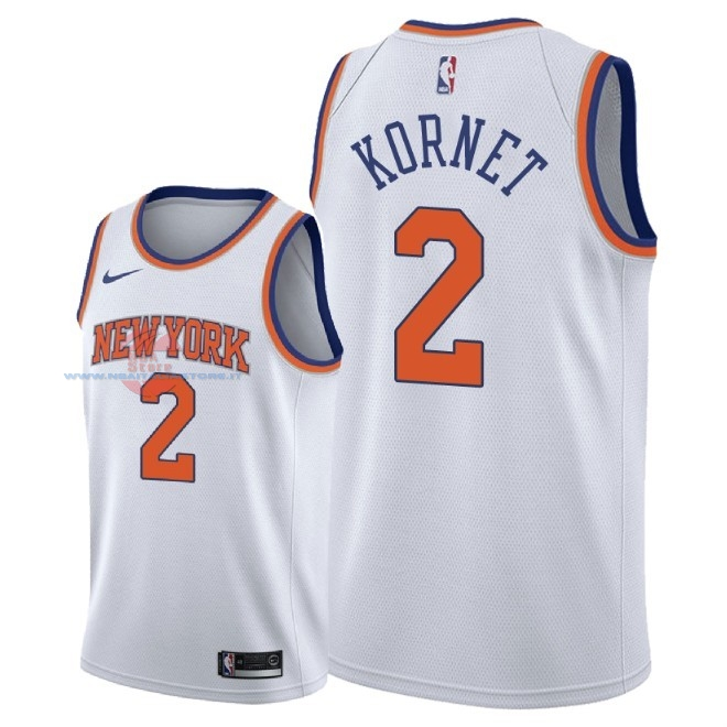 Acquista Maglia NBA Nike New York Knicks NO.2 Luke Kornet Bianco Association 2018