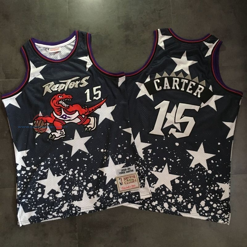 Acquista Maglia NBA Toronto Raptors NO.15 Vince Carter Retro Nero AU