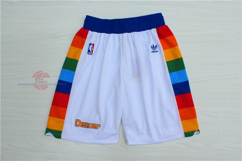 Acquista Pantaloni Basket Denver Nuggets Nike Bianco 2018