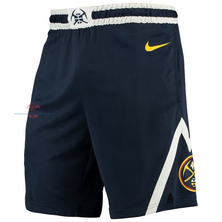 Acquista Pantaloni Basket Denver Nuggets Nike Marino Icon 2018