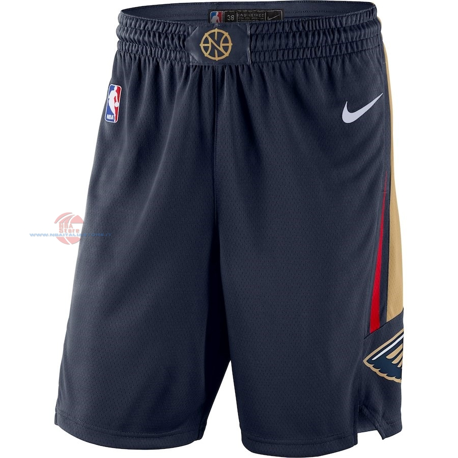 Acquista Pantaloni Basket New Orleans Pelicans Nike Marino Icon 2018
