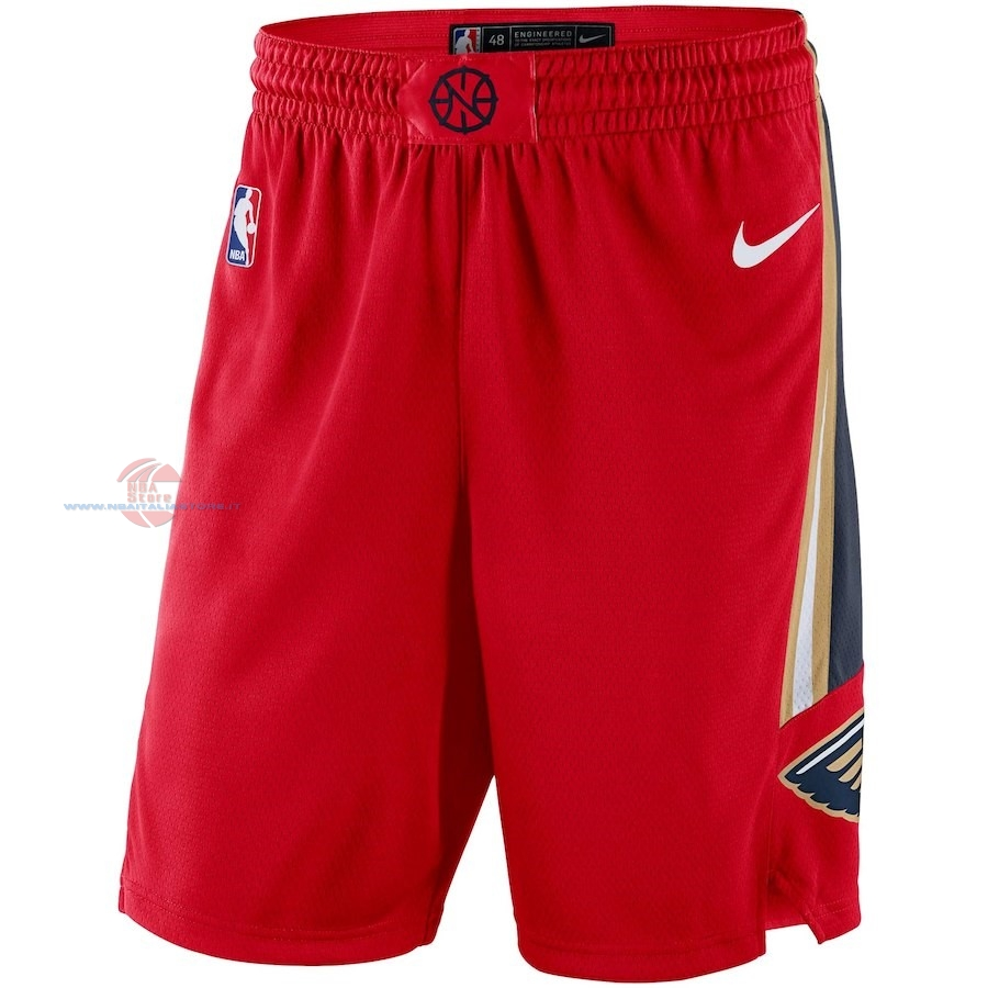 Acquista Pantaloni Basket New Orleans Pelicans Nike Rosso Statement 2018