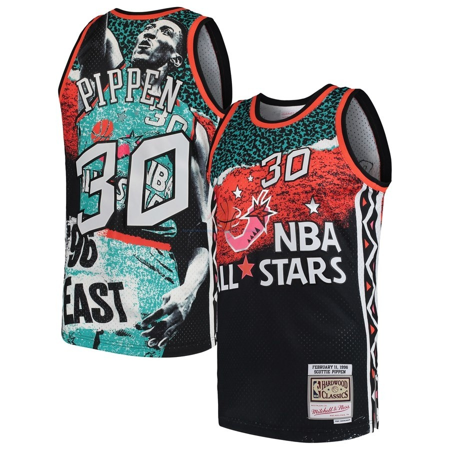 Acquista Maglia NBA All Star 1996 NO.30 Scottie Pippen Nero