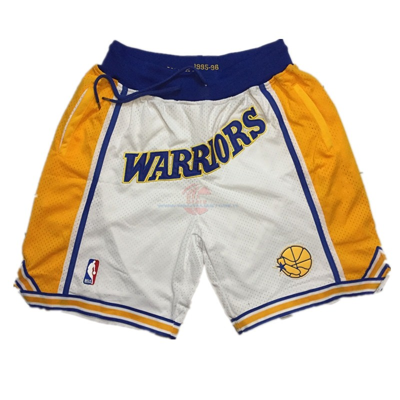 Acquista Pantaloni Basket Golden State Warriors Curry Bianco