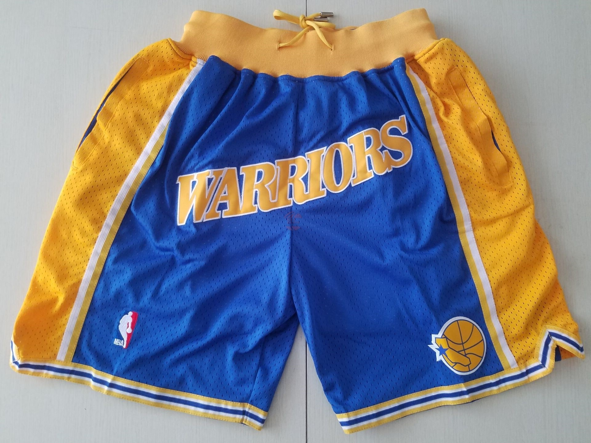 Acquista Pantaloni Basket Golden State Warriors Curry Blu