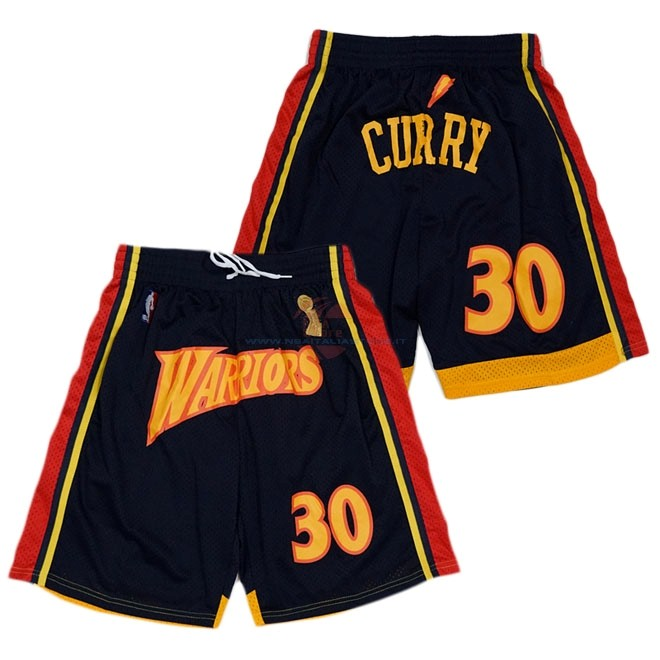 Acquista Pantaloni Basket Golden State Warriors Curry Nero
