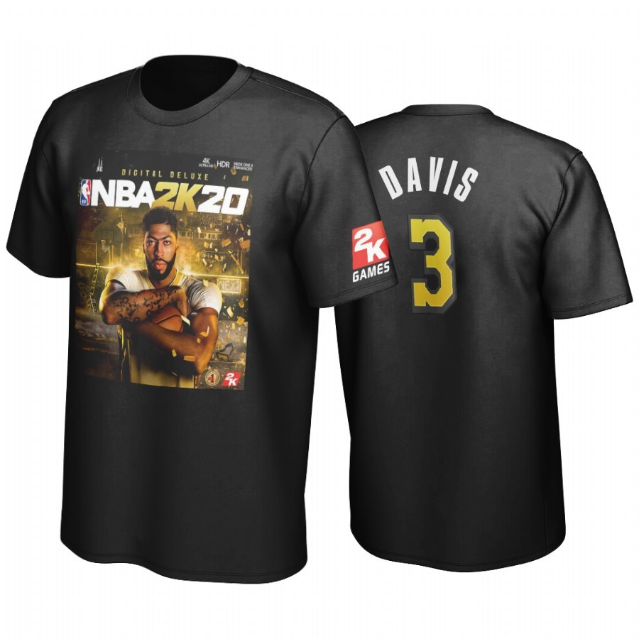 T-Shirt Golden State Los Angeles Lakers Anthony Davis Nero A Poco Prezzo