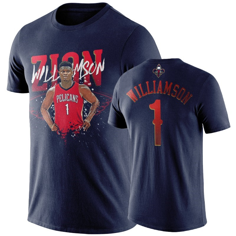 T-Shirt New Orleans Pelicans Zion Williamson Marino Player Graphic A Poco Prezzo