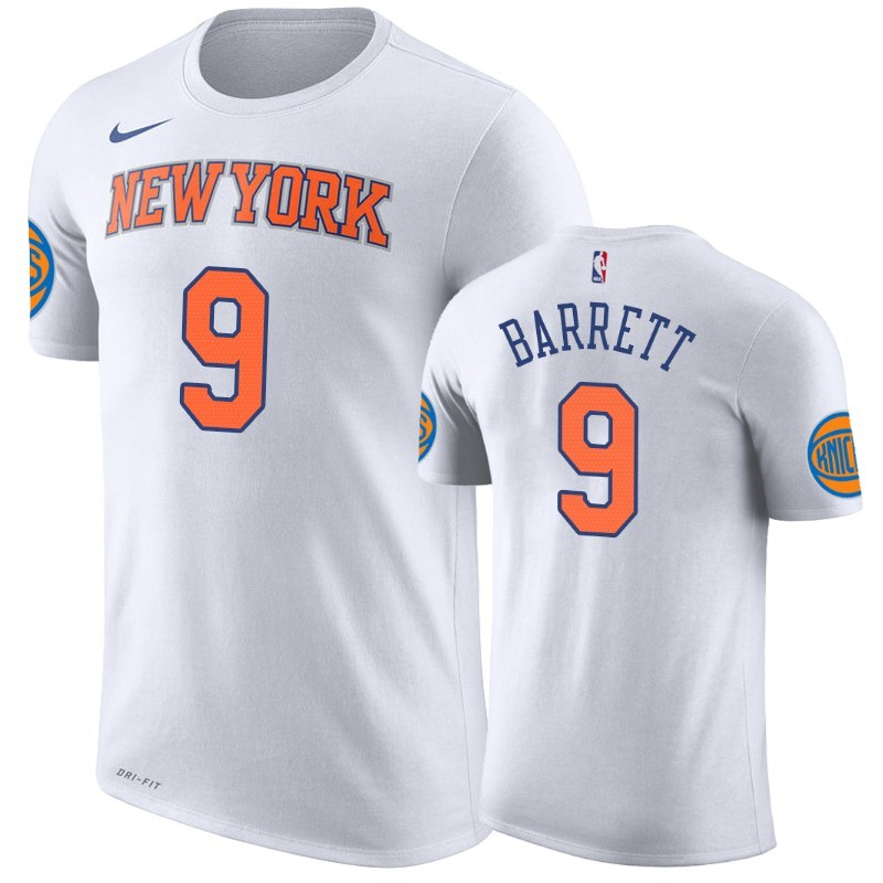 T-Shirt New York Knicks R.J. Barrett Bianco Association A Poco Prezzo