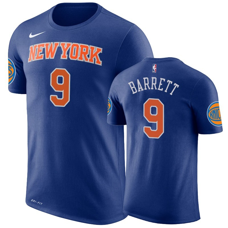 T-Shirt New York Knicks R.J. Barrett Blu A Poco Prezzo