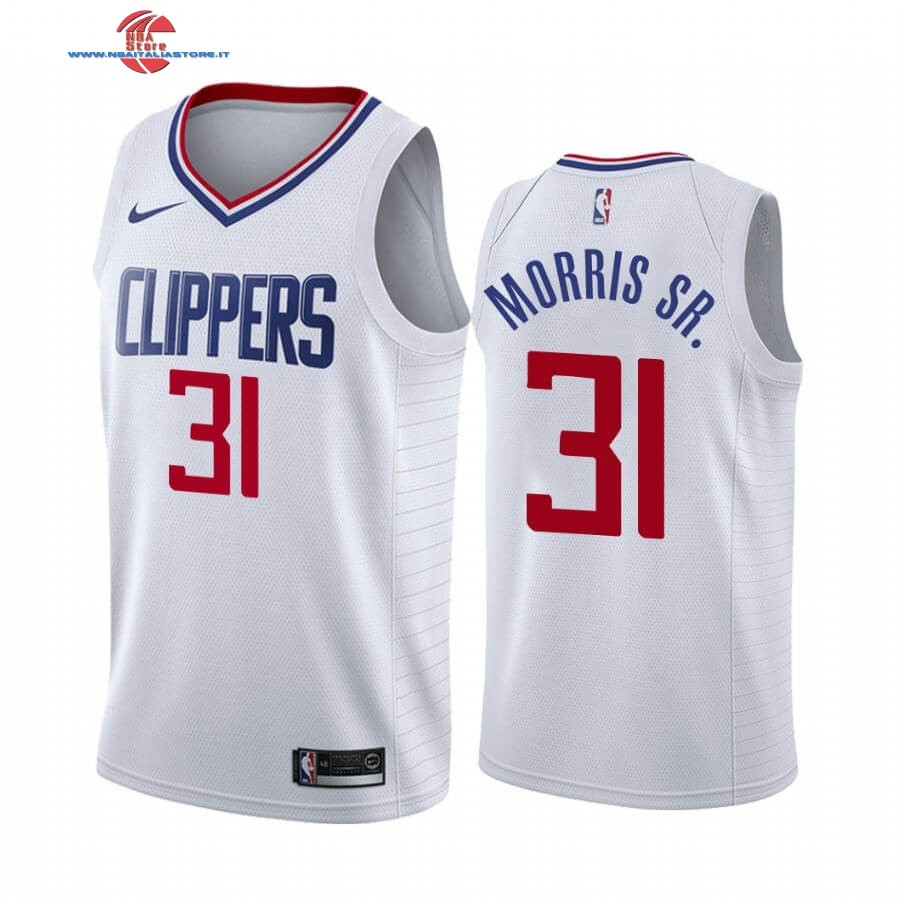 Replica Maglia NBA Nike Los Angeles Clippers NO.31 Marcus Morris Sr. Bianco Association 2019-20
