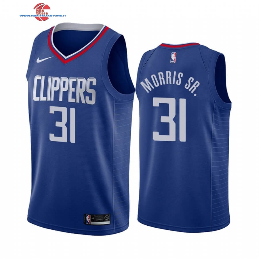 Replica Maglia NBA Nike Los Angeles Clippers NO.31 Marcus Morris Sr. Blu Icon 2019-20