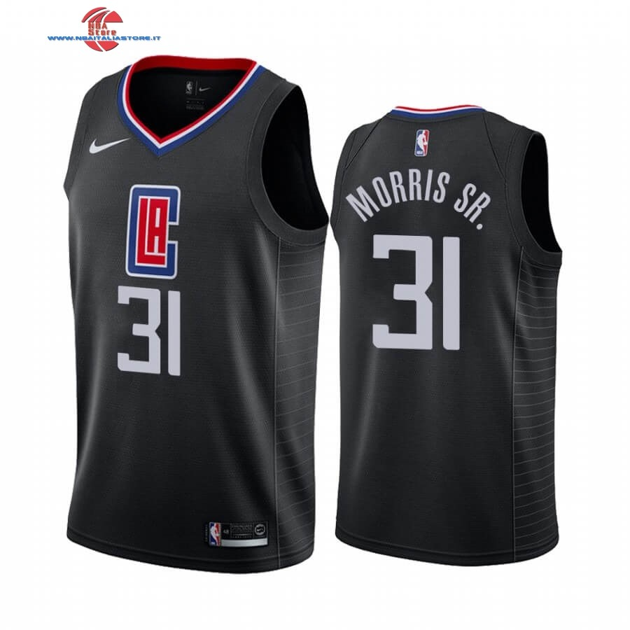 Replica Maglia NBA Nike Los Angeles Clippers NO.31 Marcus Morris Sr. Nero Statement 2019-20