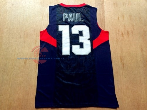 Acquista Maglia NBA 2008 USA NO.13 Chris Paul Nero