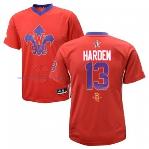 Acquista Maglia NBA 2014 All Star NO.13 James Harden Rosso