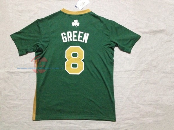 Acquista Maglia NBA Boston Celtics Manica Corta No.8 Jeff Green Verde