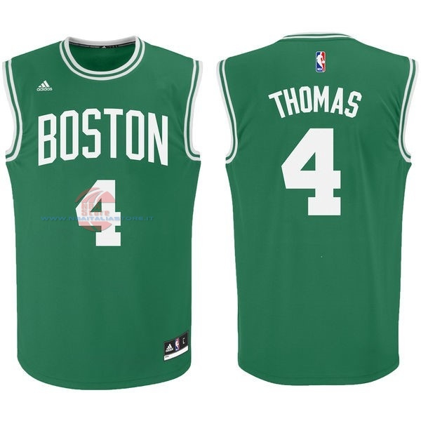 Acquista Maglia NBA Boston Celtics No.4 Isaiah Thomas Verde