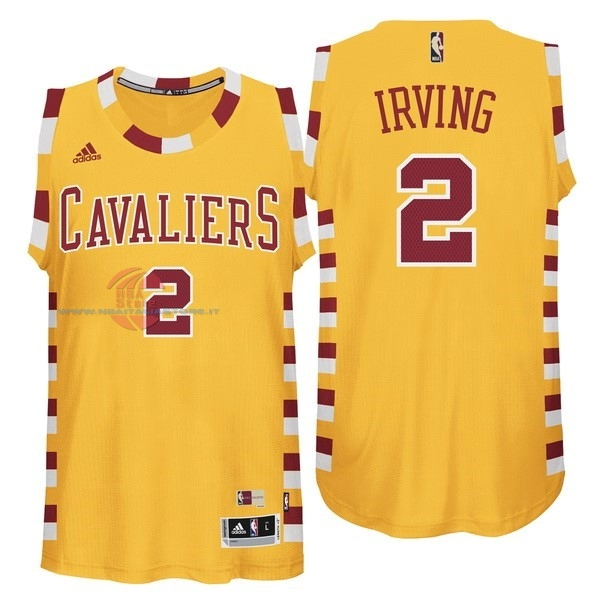 Acquista Maglia NBA Cleveland Cavaliers NO.2 Kyrie Irving Giallo Pizzo