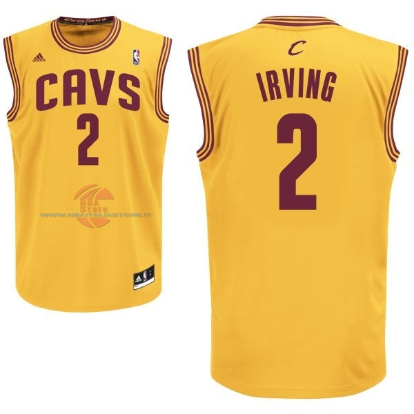 Acquista Maglia NBA Cleveland Cavaliers NO.2 Kyrie Irving Giallo