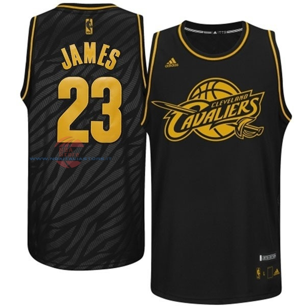 Acquista Maglia NBA Los Angeles Clippers Moda Metalli Preziosi NO.23 James Nero