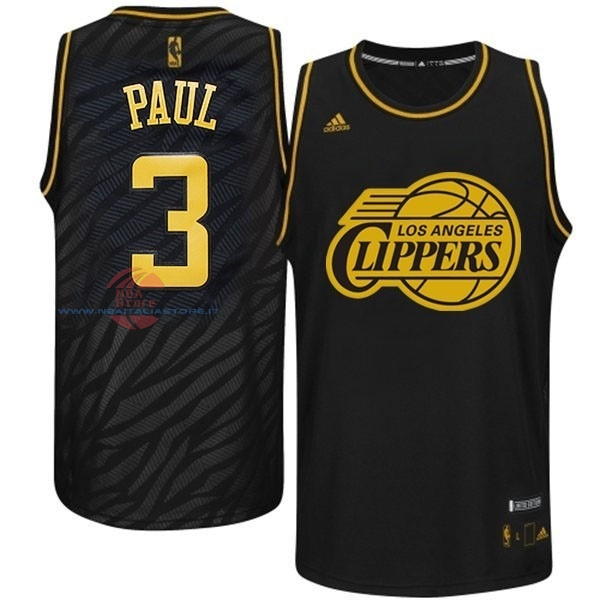 Acquista Maglia NBA Los Angeles Clippers Moda Metalli Preziosi NO.3 Paul Nero