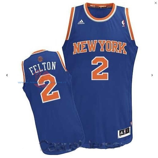 Acquista Maglia NBA New York Knicks NO.2 Raymond Felton Blu