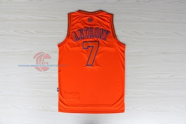Acquista Maglia NBA New York Knicks NO.7 Carmelo Anthony Arancia