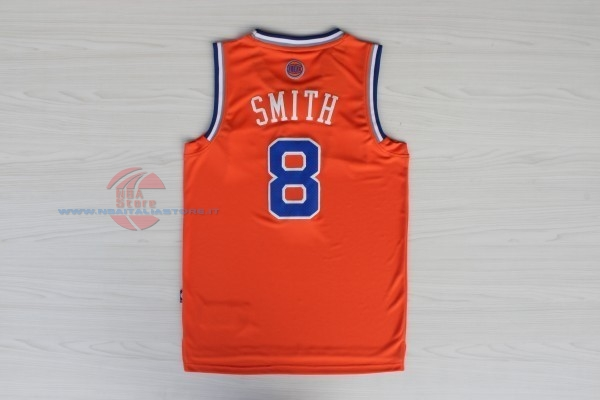 Acquista Maglia NBA New York Knicks NO.8 JR.Smith Arancia Blu