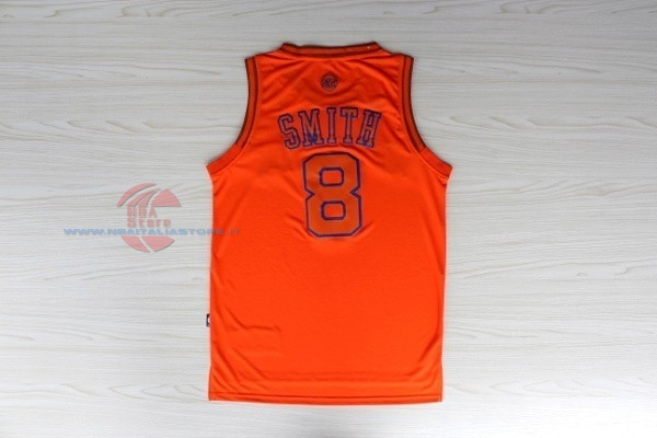 Acquista Maglia NBA New York Knicks NO.8 JR.Smith Arancia