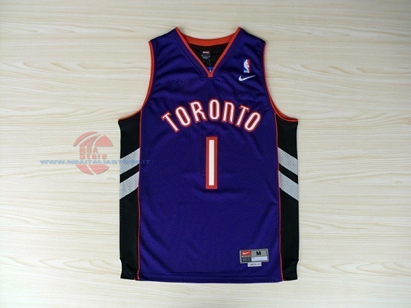 Acquista Maglia NBA Toronto Raptors NO.1 Tracy McGrady Blu
