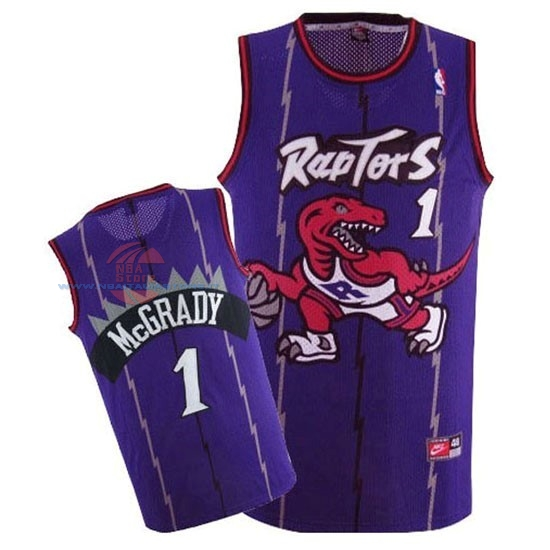 Acquista Maglia NBA Toronto Raptors NO.1 Tracy McGrady Retro Porpora